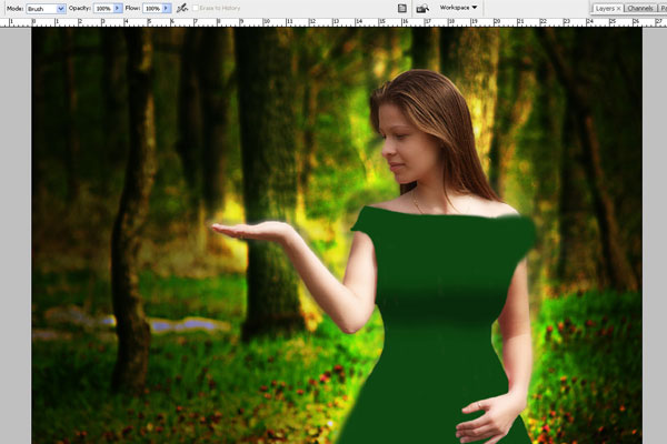 Create a Forest Fairy Using Artistic Photo Processing 43