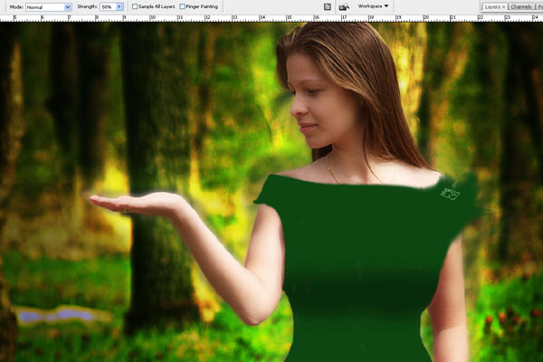 Create a Forest Fairy Using Artistic Photo Processing 44