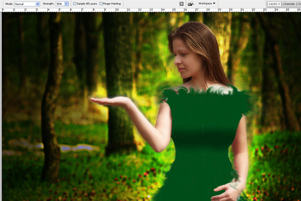 Create a Forest Fairy Using Artistic Photo Processing 45
