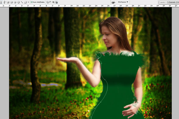 Create a Forest Fairy Using Artistic Photo Processing 46