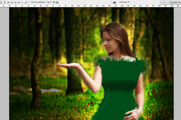 Create a Forest Fairy Using Artistic Photo Processing 48