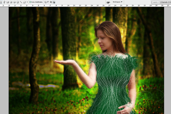Create a Forest Fairy Using Artistic Photo Processing 49