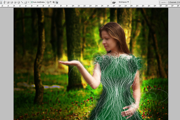 Create a Forest Fairy Using Artistic Photo Processing 51