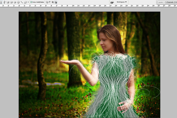 Create a Forest Fairy Using Artistic Photo Processing 52
