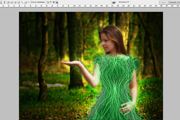 Create a Forest Fairy Using Artistic Photo Processing 54
