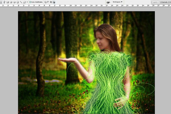 Create a Forest Fairy Using Artistic Photo Processing 56