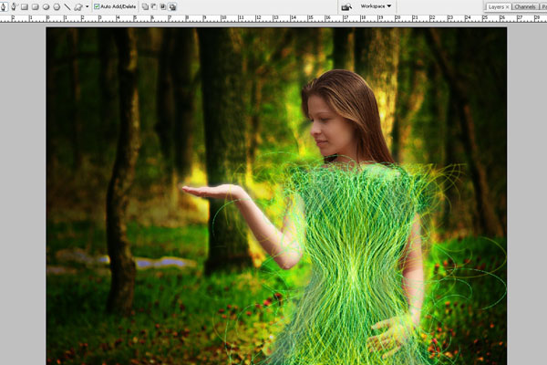 Create a Forest Fairy Using Artistic Photo Processing 57