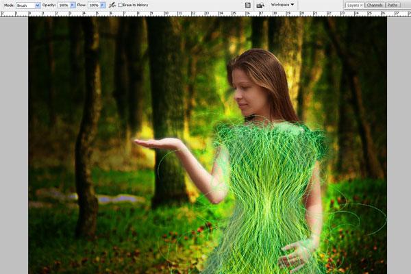 Create a Forest Fairy Using Artistic Photo Processing 58