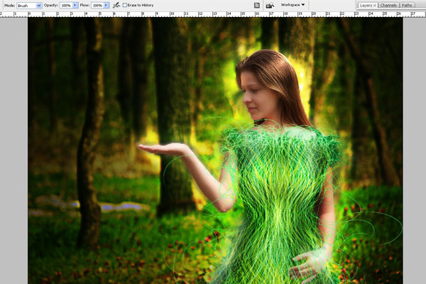 Create a Forest Fairy Using Artistic Photo Processing 59