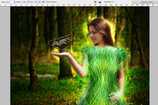 Create a Forest Fairy Using Artistic Photo Processing 61