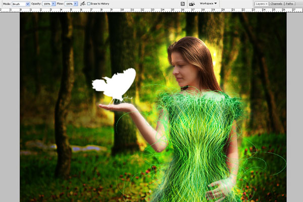 Create a Forest Fairy Using Artistic Photo Processing 65