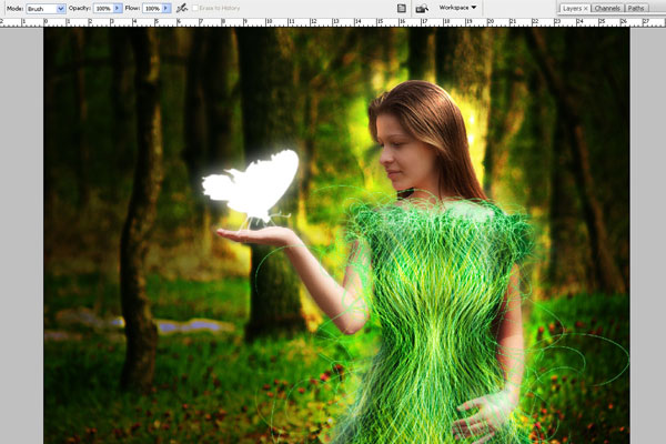 Create a Forest Fairy Using Artistic Photo Processing 67