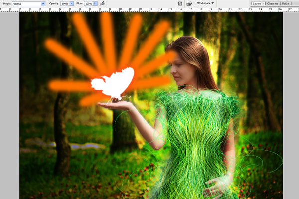 Create a Forest Fairy Using Artistic Photo Processing 70