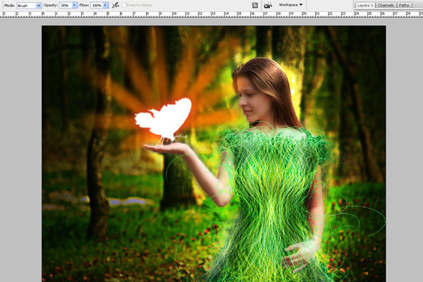 Create a Forest Fairy Using Artistic Photo Processing 71