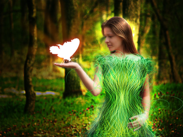 Create a Forest Fairy Using Artistic Photo Processing