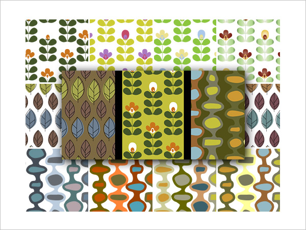 Retro Nature PS & AI Pattern Pack
