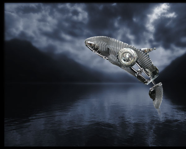 How to Create a Futuristic Jumping Whale in Photoshop 11