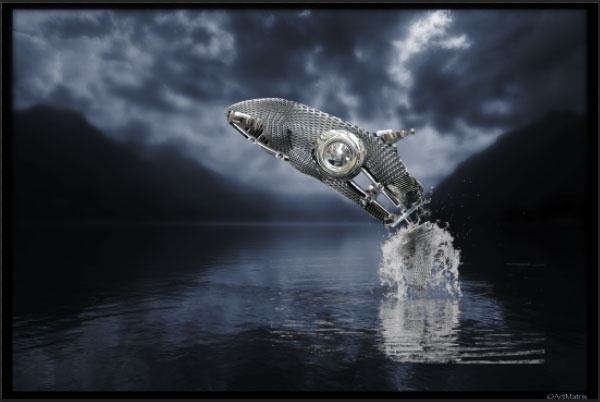 How to Create a Futuristic Jumping Whale in Photoshop 17