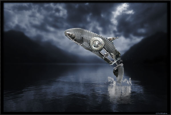 How to Create a Futuristic Jumping Whale in Photoshop 19