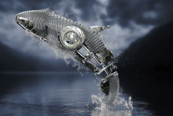 How to Create a Futuristic Jumping Whale in Photoshop 26