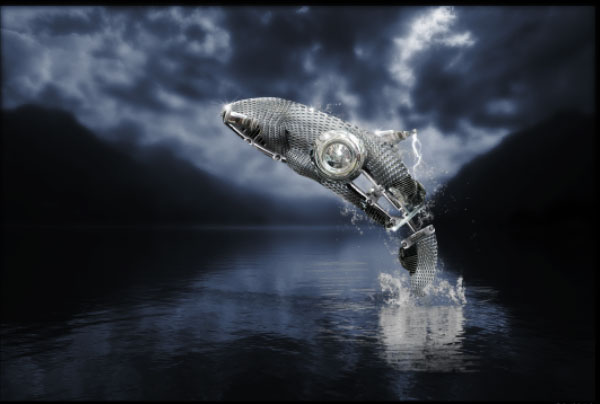 How to Create a Futuristic Jumping Whale in Photoshop 34