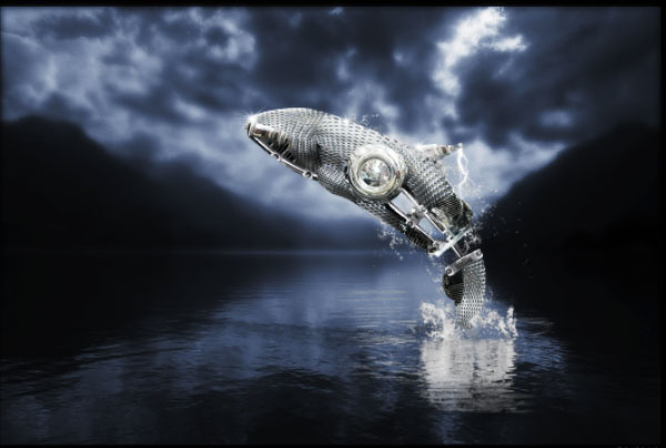 How to Create a Futuristic Jumping Whale in Photoshop 36