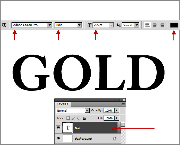 Learn a realistic gold text effect in Photoshop 2