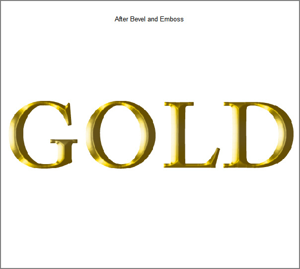 Learn a realistic gold text effect in Photoshop 8