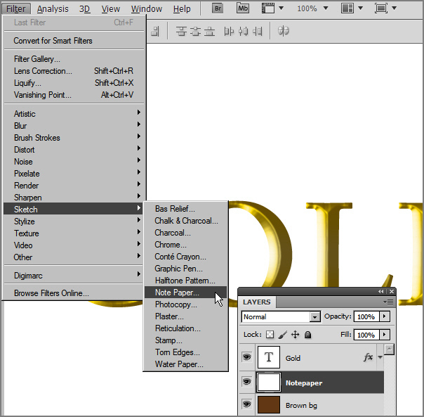 Learn a realistic gold text effect in Photoshop 13
