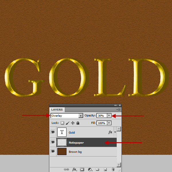 Learn a realistic gold text effect in Photoshop 15