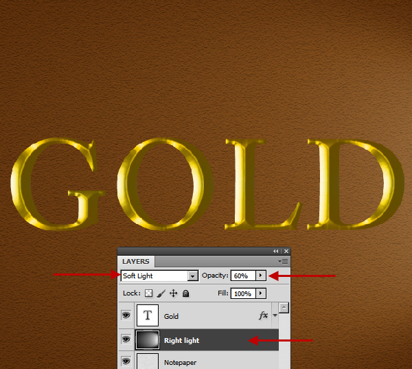 Learn a realistic gold text effect in Photoshop 18