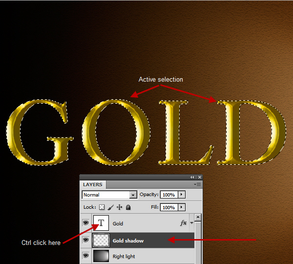 Learn a realistic gold text effect in Photoshop 21
