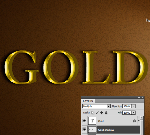 Learn a realistic gold text effect in Photoshop 25