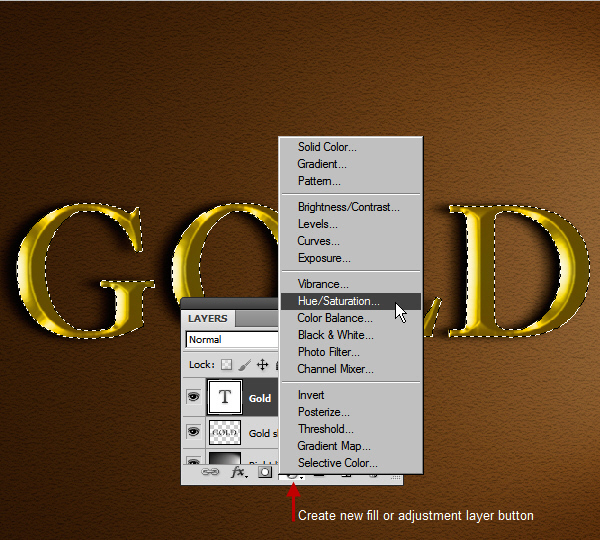 Learn a realistic gold text effect in Photoshop 26