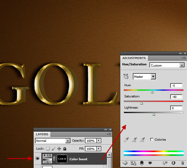 Learn a realistic gold text effect in Photoshop 27