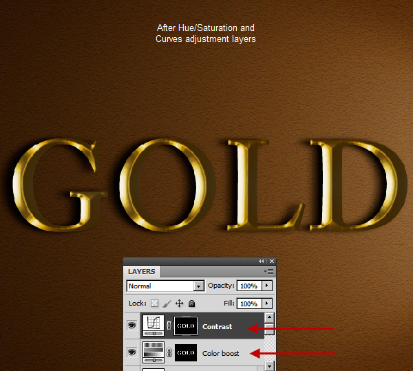 Learn a realistic gold text effect in Photoshop 29