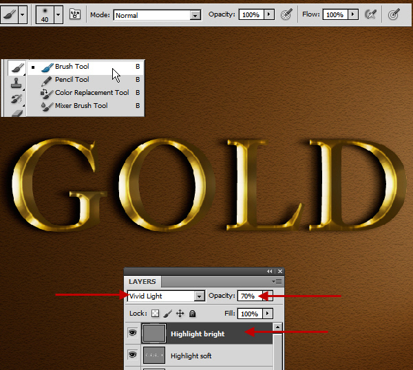 Learn a realistic gold text effect in Photoshop 36