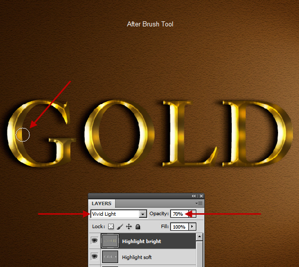 Learn a realistic gold text effect in Photoshop 38