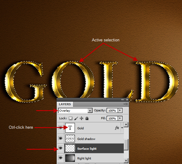 Learn a realistic gold text effect in Photoshop 40