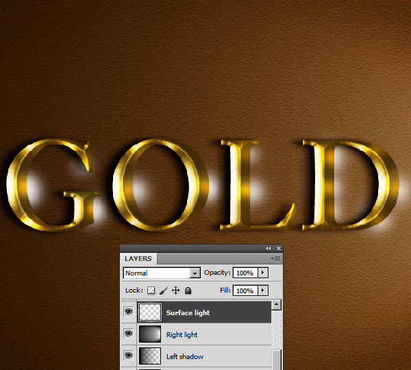 Learn a realistic gold text effect in Photoshop 42