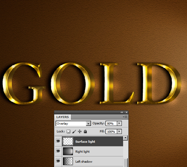 Learn a realistic gold text effect in Photoshop 43