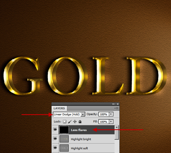 Learn a realistic gold text effect in Photoshop 44