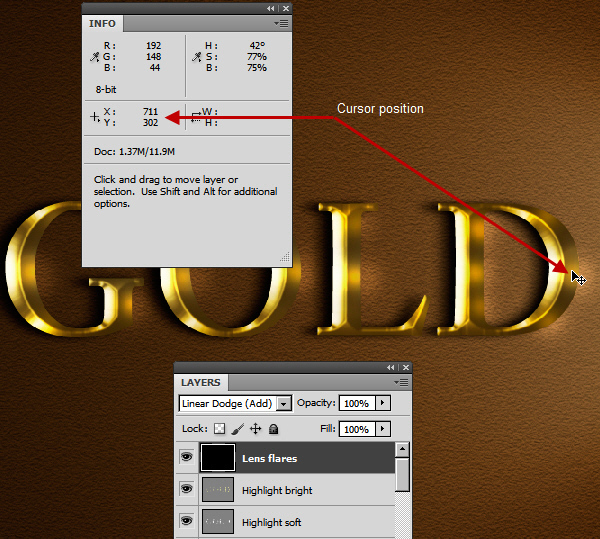 Learn a realistic gold text effect in Photoshop 46