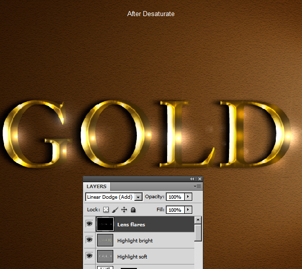 Learn a realistic gold text effect in Photoshop 52