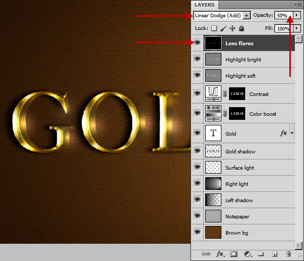 Learn a realistic gold text effect in Photoshop 53