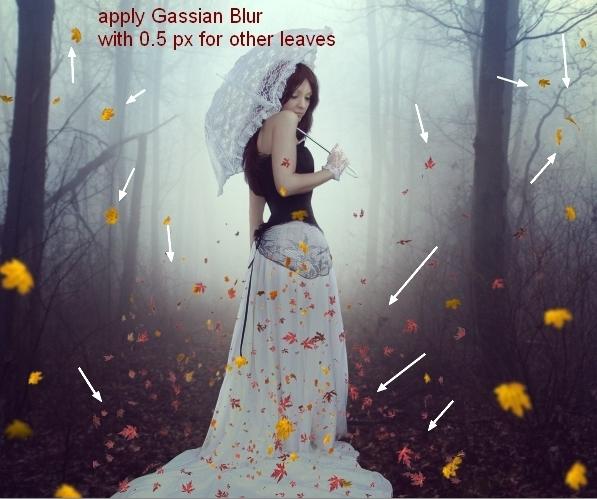 Create an Emotional Autumn Scene Photo Manipulation 55