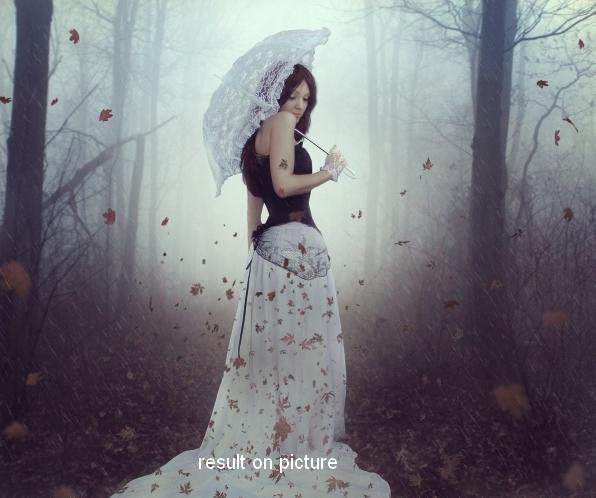 Create an Emotional Autumn Scene Photo Manipulation 77