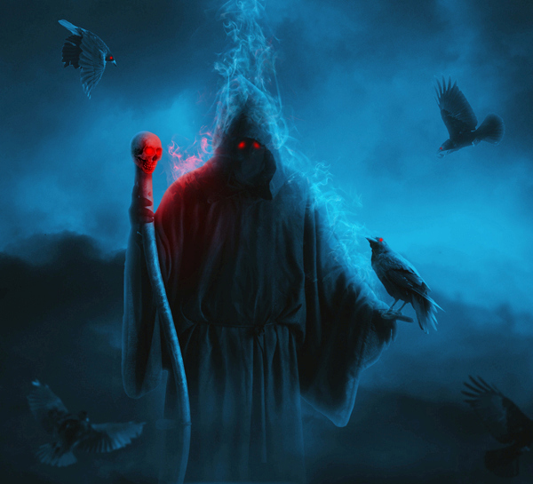 Create a Dark Grim Reaper Scene for Halloween in Photoshop
