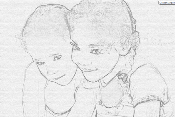 Turn a Photo into Pencil Drawing 14