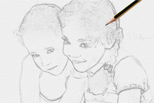 Turn a Photo into Pencil Drawing 15